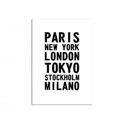 """Poster """"Cities of the world"""""""
