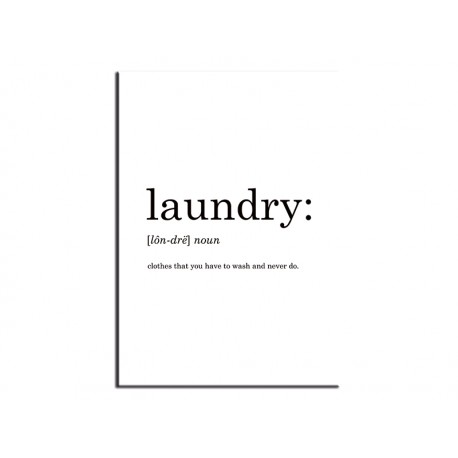 """Poster """"Laundry"""""""