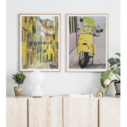 """Set posters in rame """"Yellow"""""""