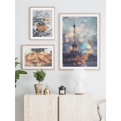 """Set posters in frame """"Croissant"""""""