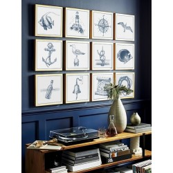 """Set posters in rame """"Marine"""""""