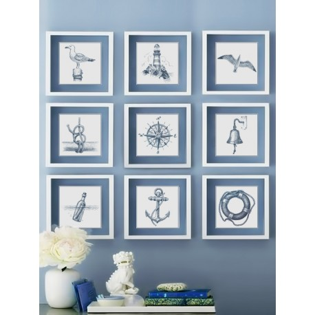 """Set posters in rame """"Sea"""""""