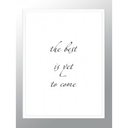 """Framed Poster """"The best..."""""""