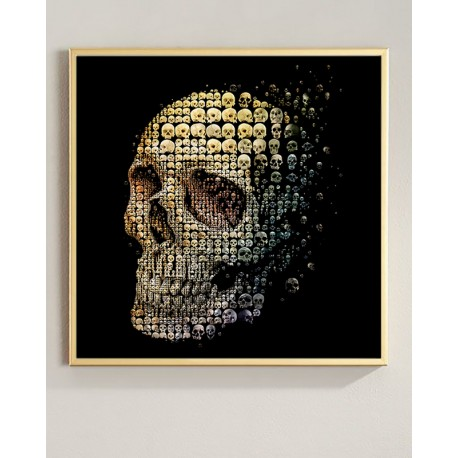"""Framed poster """"Skull"""""""