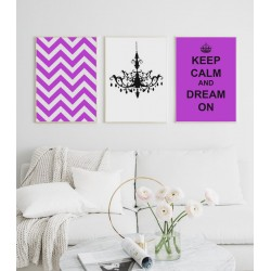 """Set posters in rames """"Zigzag"""""""
