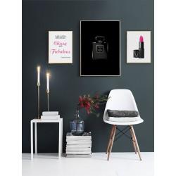 """Set framed poster """"Chanel"""""""