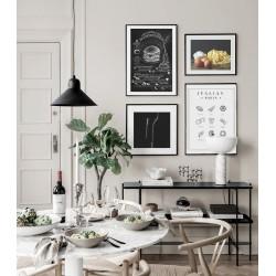 """Set framed poster """"Pasta"""""""