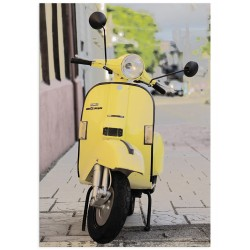 """Poster """"Yellow Vintage Scooter"""""""